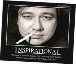 Bill Hicks with quote