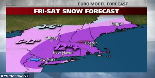 Powerful storm to dump foot of snow this weekend on U.S. East Coast as region braces for coastal storm