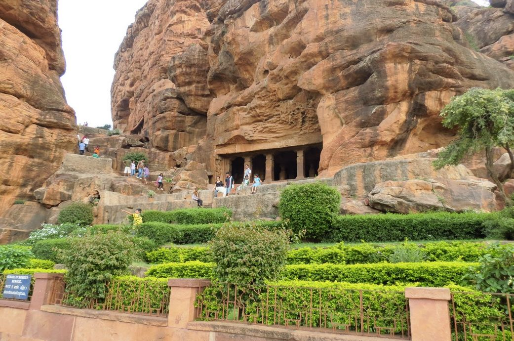 The rock-cut cave temples of Badami, India