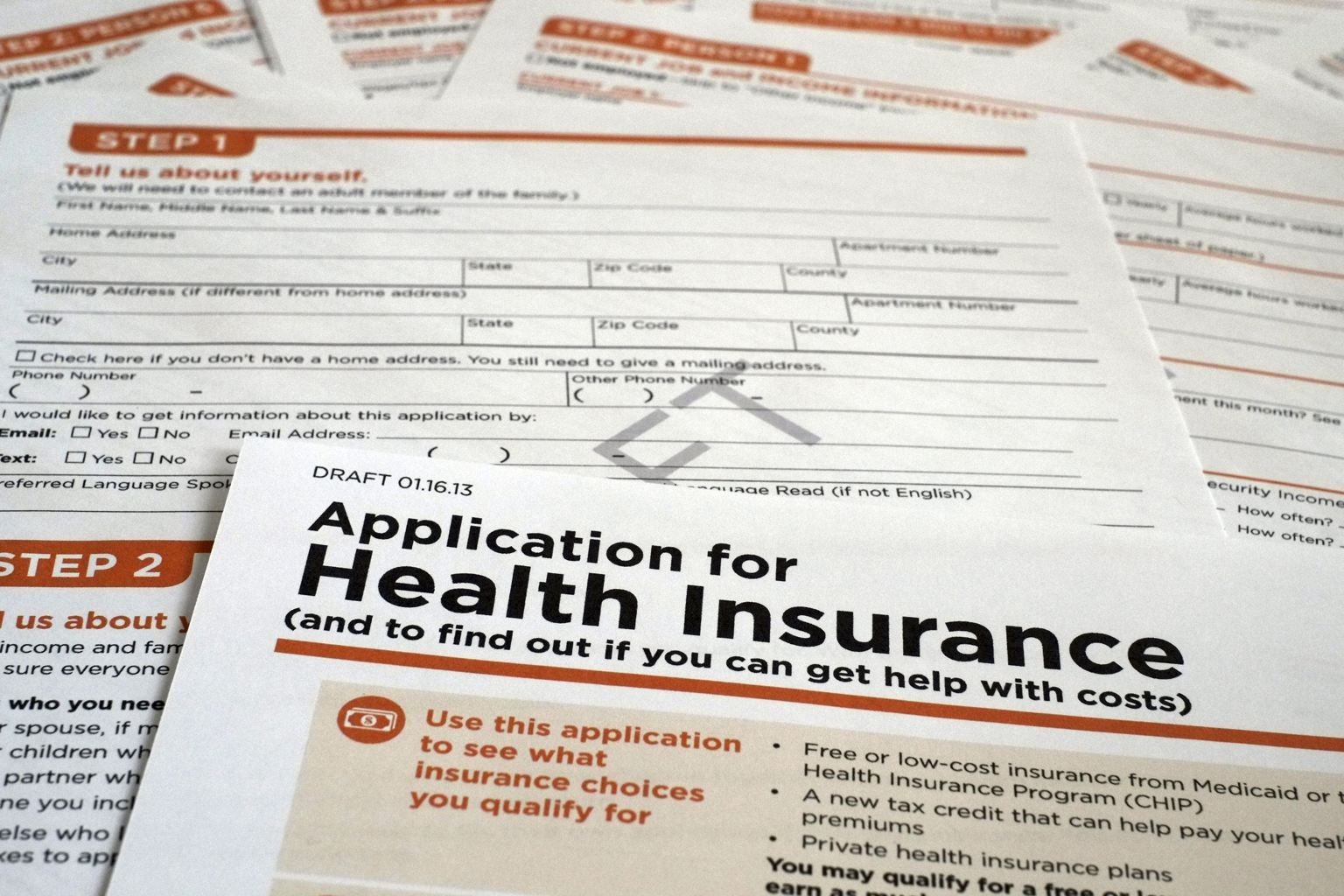 Health insurance application process under Obamacare won't ...
