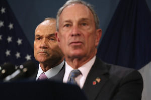 Mayor Bloomberg and Police Commissioner Ray Kelly.