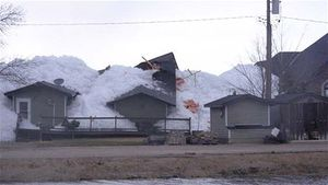 ice wall destroys homes