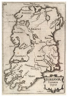 Medieval map of Ireland