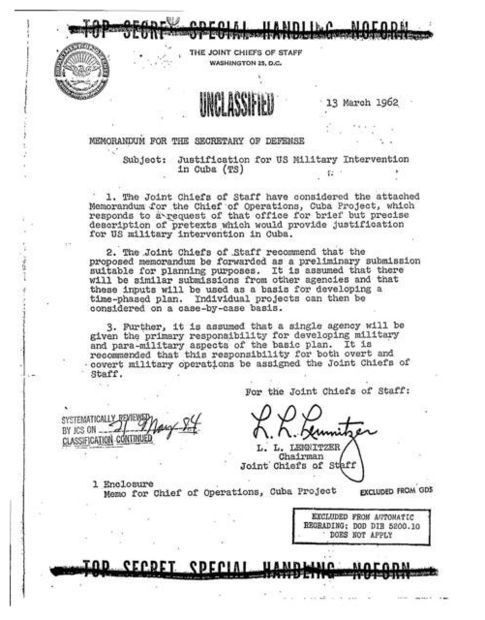 Operation Northwoods memo