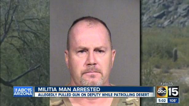 Arizona Minuteman militia member arrested for pointing AR-15 rifle at sheriff's deputy
