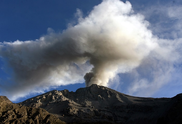 Peru's Ulbinas volcano erupts five times in three days