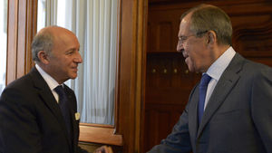 Fabius and Lavrov in Moscow