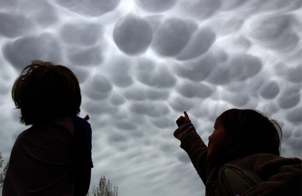 Unusual cloud formations over New Zealand