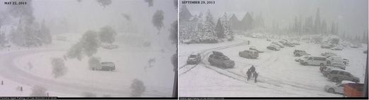 Mt. Rainier snow webcams