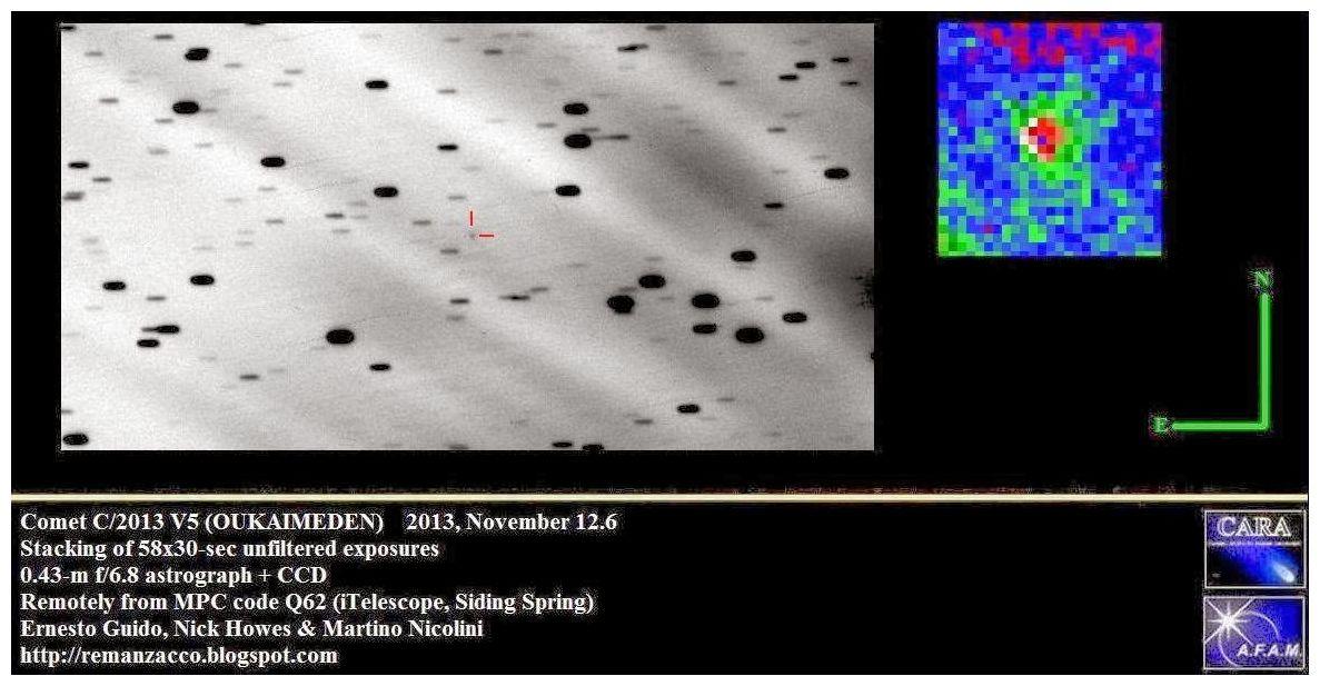 New Comet C 2013 V5 Oukaimeden Science Amp Technology