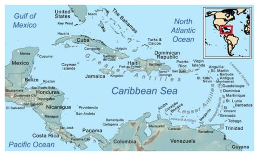 Map of the Caribbean Basin