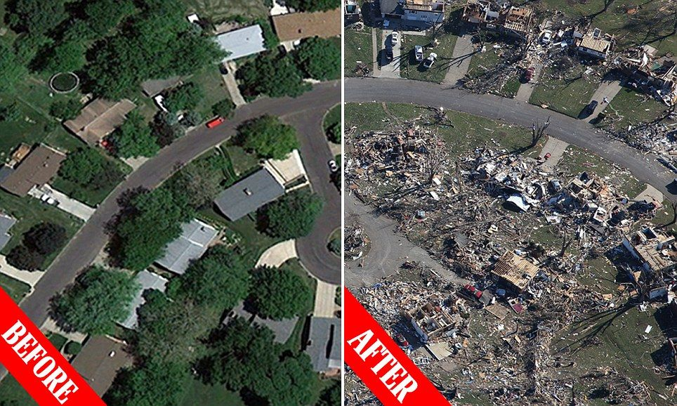 Ef5 Tornado Damage Before And After 200mph storm dropped t...