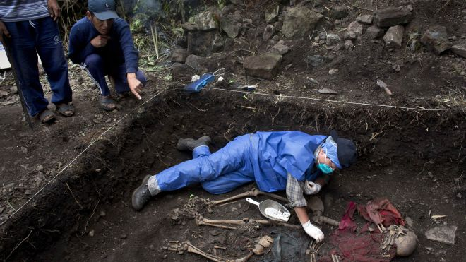 Biggest-ever exhumation from Peru's long, brutal conflict exposes horrors 3 decades later