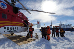 Chinese helicopter rescues passenger of Antarctic ship