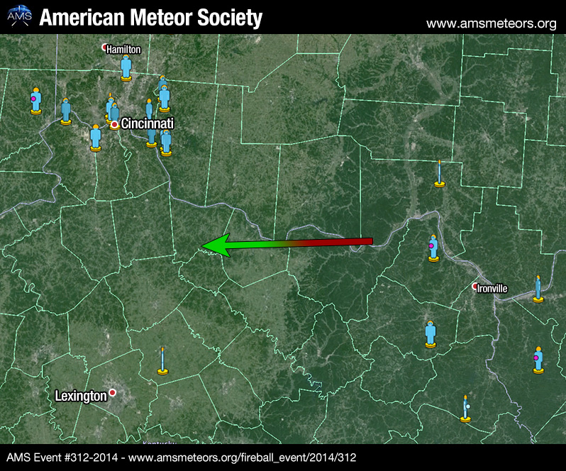 AMS receives hundreds of reports of 4 separate meteor fireballs seen over U.S., 28 January 2014