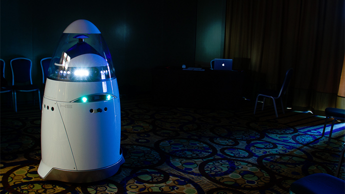 R2-D2 joins Big Brother: California company builds 5-foot android robocops to control crime-ridden areas