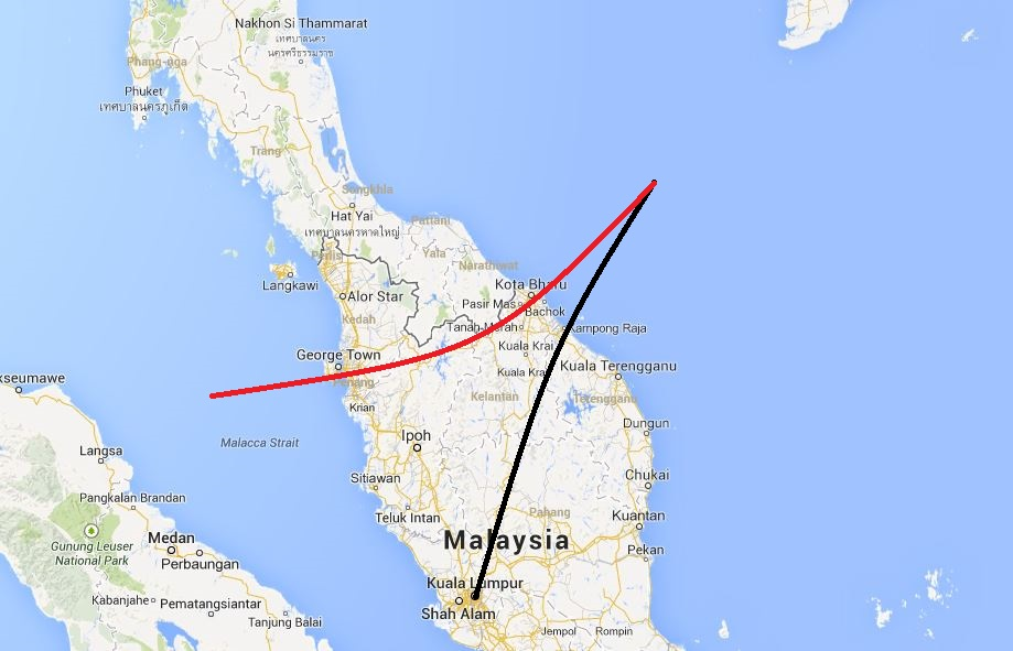 Did they see the missing plane? Eyewitnesses in northern Malaysia witnessed 'a descending, low-flying plane'