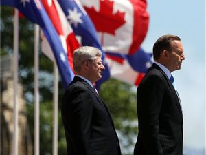 Tony Abbott and Stephen Harper
